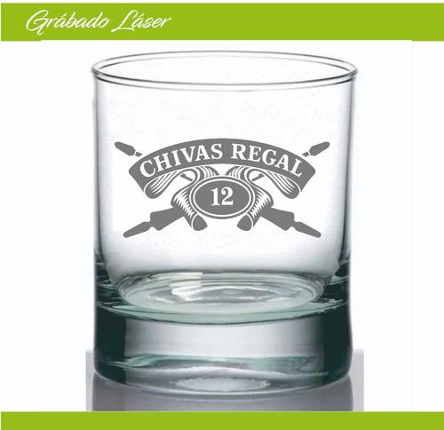 vaso vidrio whisky 330ml personalizado grabado laser vajilla