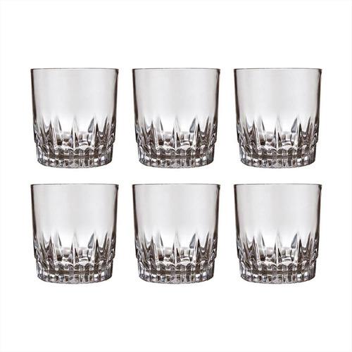 vaso vidrio whisky nadir 290 ml x 6 unid. vegas