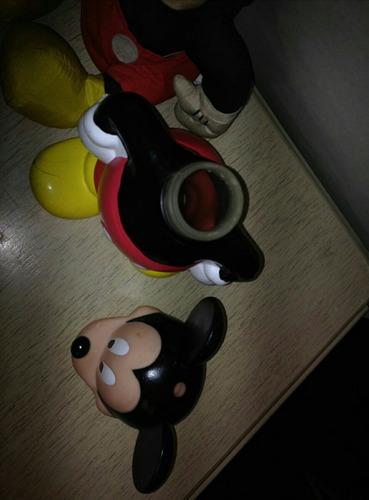 vaso vintage alcancía lote mickey mouse disney