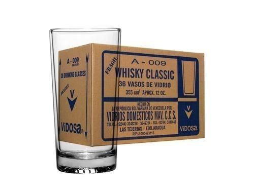 vaso whisky classic a009 12 0nzas(caja 36nuevos)
