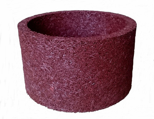 vaso xaxim ecológico de pneu 23x13cm cor terracota