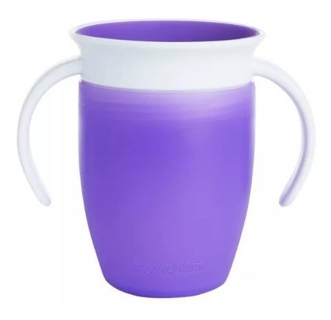 vasos antiderrames munchkin 360 - miracle cup 7oz morado