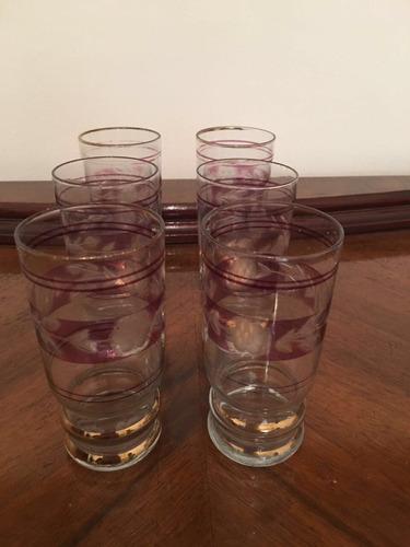vasos antiguos muy lindos x 6