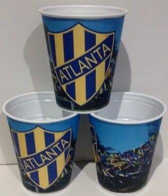 vasos atlanta, futbol, plasticos descartables!!!