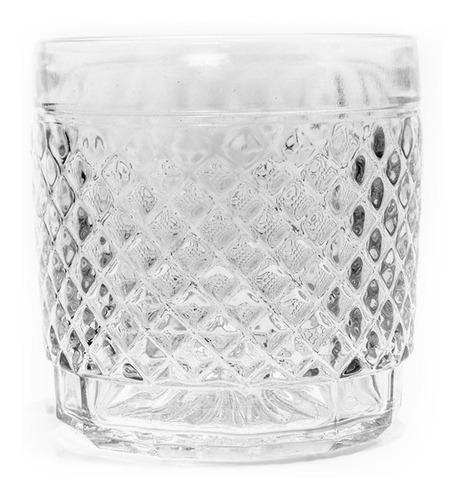 vasos bajos de vidrio labrado barroco wheaton para whisky tragos cocktails vaso degustación de postres - 300 ml por un.