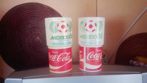 vasos coca cola mexico 86
