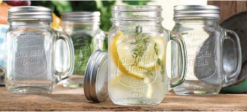 vasos con agarradera tipo mug de vidrio homeessentials