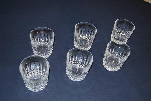 vasos cristal d'arques cortos 6 piezas