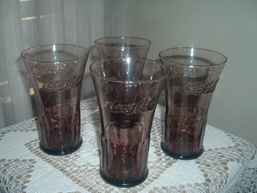 vasos de cocacola color ambar