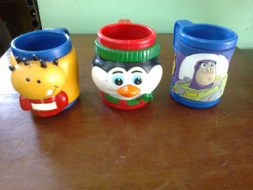 vasos de coleccion de disney x 3