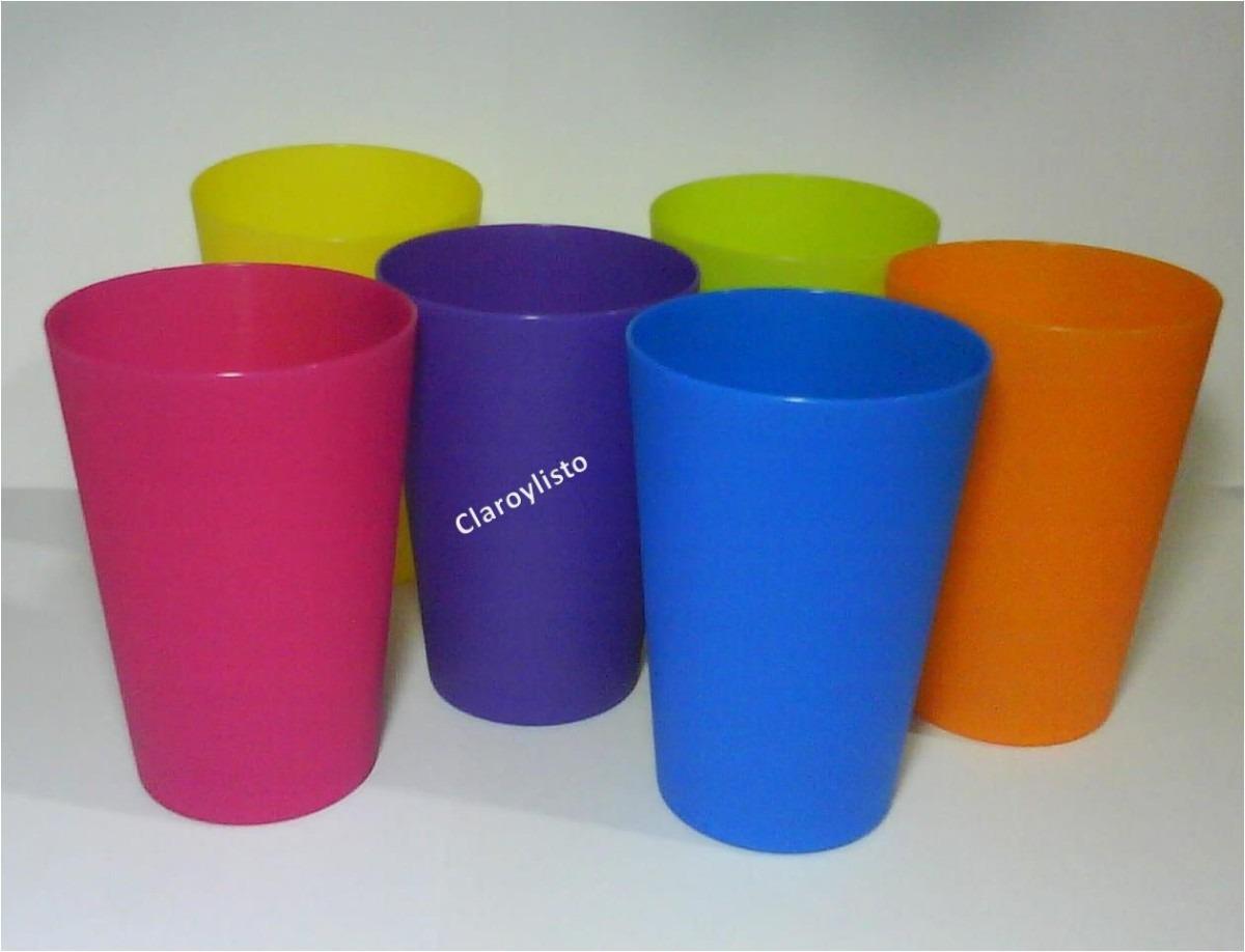 Vasos de colores vivos para cotillones rifas y mucho - Vasos de colores ...