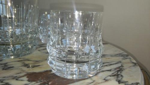 vasos de cristal whisky y hielera