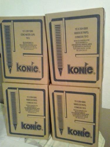 vasos de papel marca konie