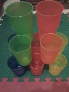 vasos de plastico reutilizables europeos casi 1 litro