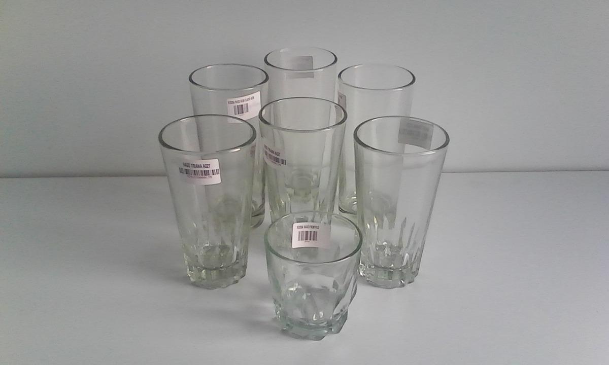 Vasos de vidrio cristal resistentes bebidas agua tasca bar for Vasos para bar