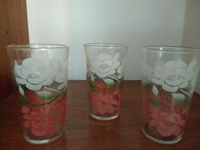 Vasos De Vidrio Decorados Vintage