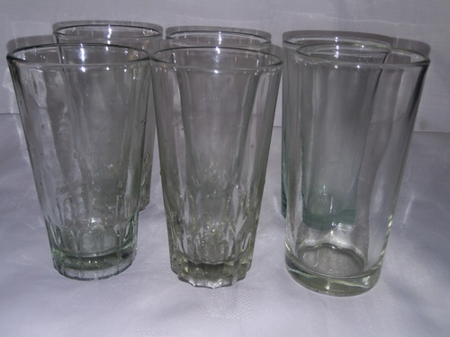 vasos de vidrios largo whisky  6 unidades magic sound