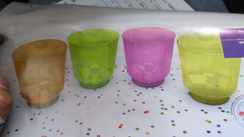 vasos de whisky neon paquete x25 fiesta arlequin