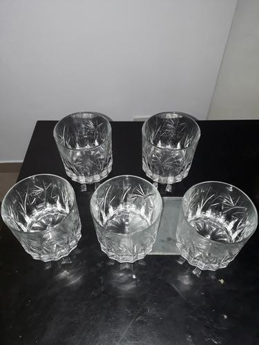vasos de wisky de cristal