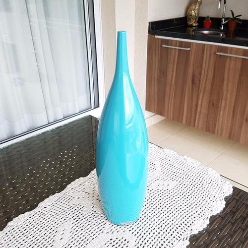 vasos decorativos tipo garrafa 48 cerâmica azul claro 3pcs