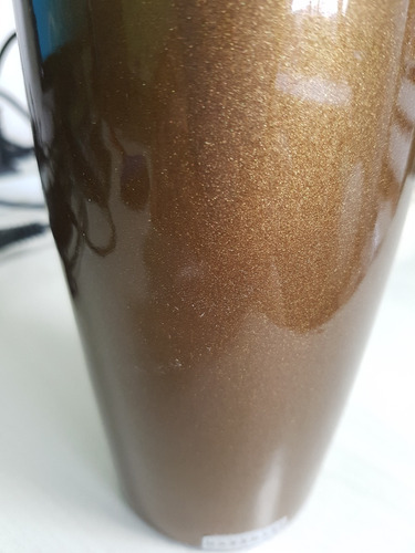 vasos decorativos tipo garrafa 48 cerâmica bronze 3 pcs