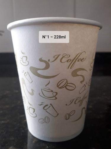vasos descartables polipapel 228ml. + revolvedor