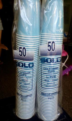 vasos desechables 10 oz colores pastel
