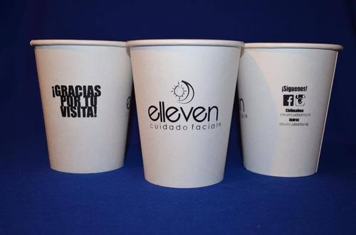 vasos desechables ecológicos impresos para bebida caliente