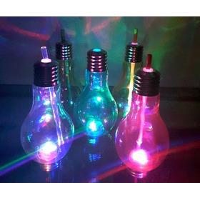 Vasos En Forma De Bombillo Con Luz Led