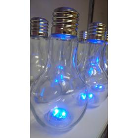 Vasos En Forma De Bombillos Con Luz Led