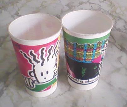 vasos fido dido- colección 7up - 1985