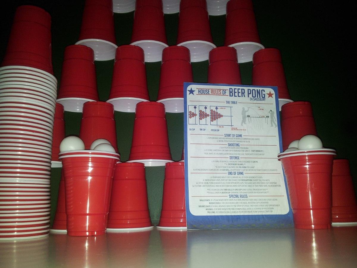 Vasos Fiestas Americanas Rojos Pack 100 Unidades Beerpong