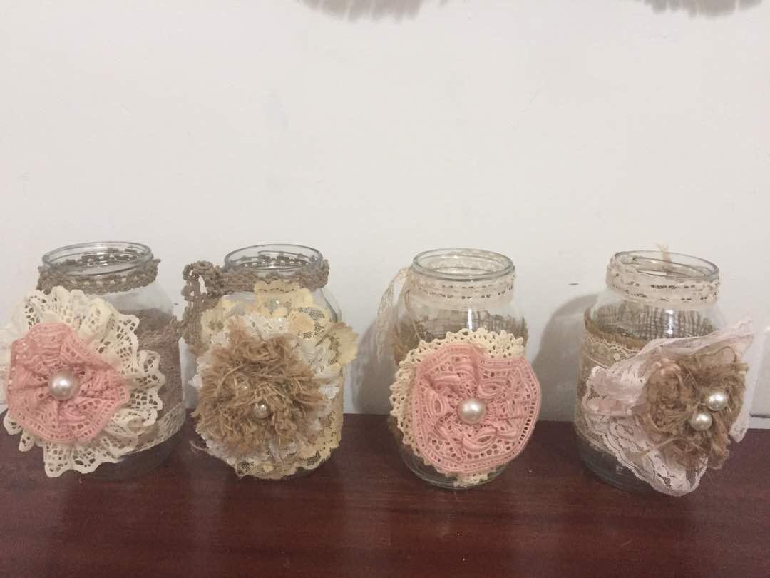 Vasos frascos d vidrio decorados vintage decoracion bs - Comprar decoracion vintage ...
