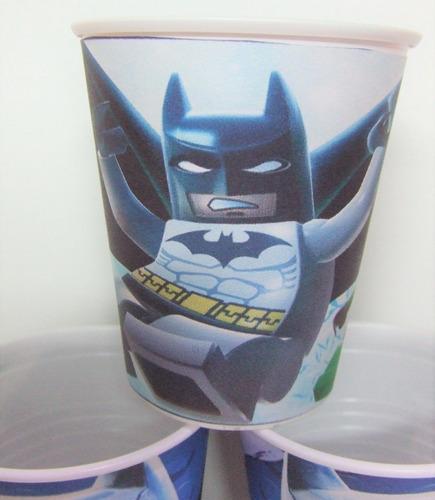 vasos lego batman, plasticos descartables!!!!