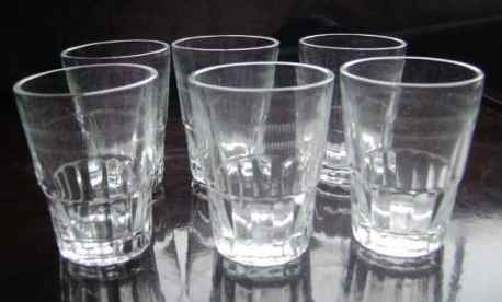 vasos - lote de 6 vasitos de licor