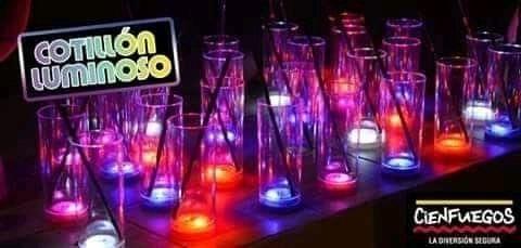 vasos luminosos led cienfuegos