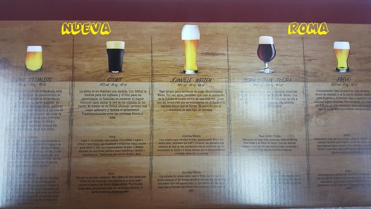 Vasos Para Cerveza Kit Cervecero 5 Piezas Nadir 422 00 En  # Muebles Nadir Avellaneda