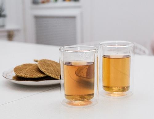 vasos para té dos piezas transparentes kikkerland diseño