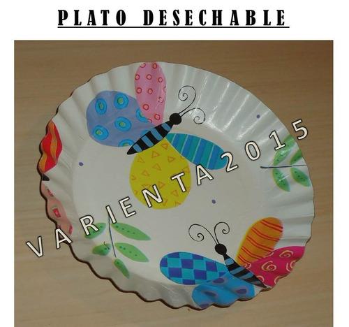 vasos plastico desechable- mariposa flores- fiesta cotillon