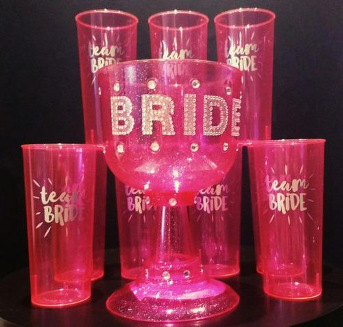 vasos plásticos  bride party despedida de soltera