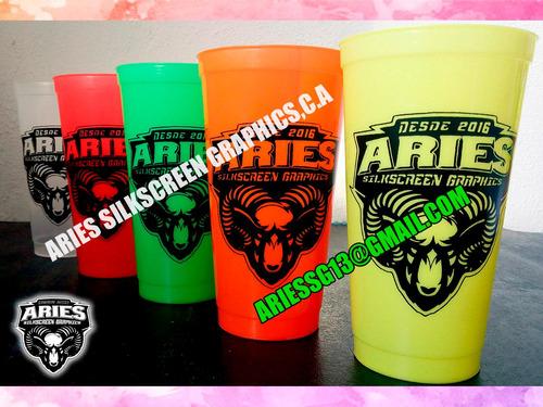vasos plásticos licoreros  personalizados impresos