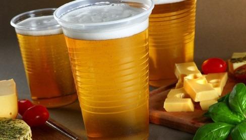 vasos plasticos p/ batido y milkshake toledo c/tapa 50 unid