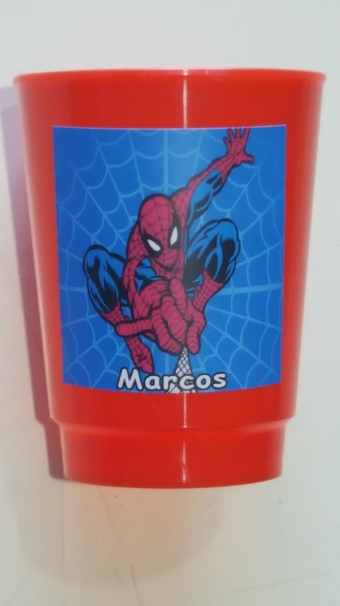 Vasos Plasticos Personalizados Hombre Araña Spiderman 10u - $ 130,00 ...