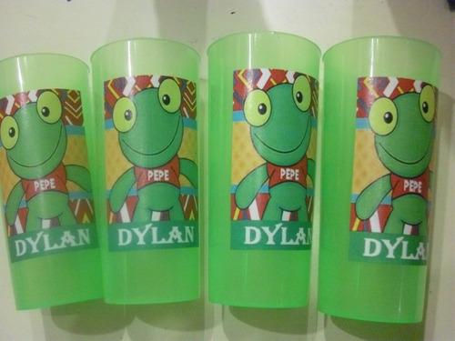 vasos plasticos personalizados sapo pepe cumpleaños - 10u