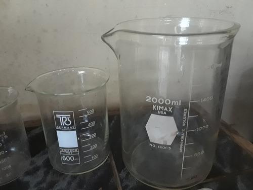 vasos precipitados/beackers 150,400,600 y 2000ml (75v)