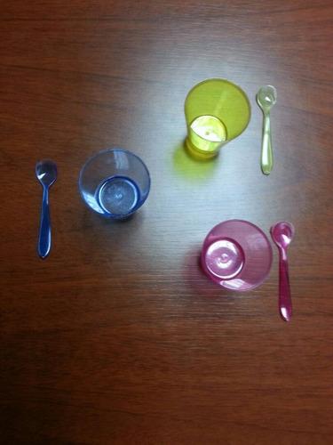 vasos shot cristal 1.5oz 20 unidades + 20 cucharas