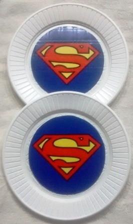 vasos supergirls, superman, plasticos descartables!!!