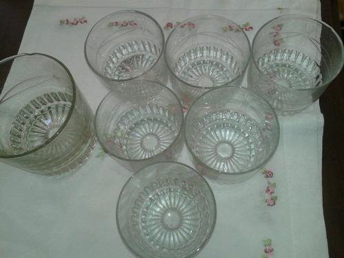 vasos  tallados para wisky y hielera liquido