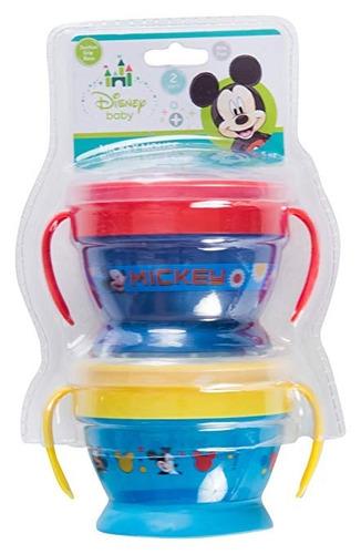 vasos tazas de snack reutilizables disney mickey mouse