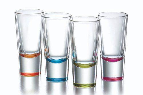 Vasos tequileros gigantes de colores son de vidrio crisa - Vasos de colores ...